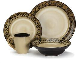Cuisinart CDST1-S4G5 Stoneware Isere Collection 16-Piece Din