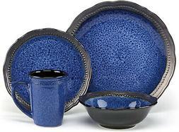 Cuisinart CDST1S4JEB Stoneware Jenna Blue Collection 16Piece