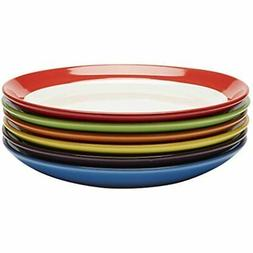 Premium Ceramic Set of 6, Colorful Meal Stoneware