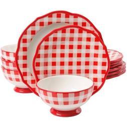 The Pioneer Woman 12-Piece Ceramic Dinnerware Set, Charming