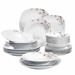 Ceramic Dinnerware Set Porcelain Floral Pattern Plates and B