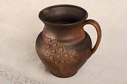 Beautiful Handmade Ceramic Jug Clay Water Jug Tableware Idea