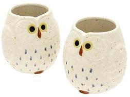 Kotobuki Ceramic Owl Cup , White