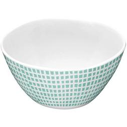 Cereal Bowl Made of Melamine Mint Microcheck 4pk