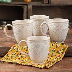 Charming Antique Style Farmhouse Lace Mug Set