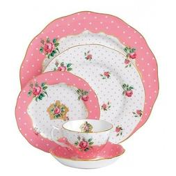 Royal Albert Cheeky Pink 40Pc China Set, Service for 8