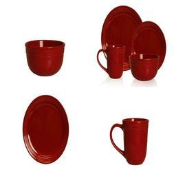 Mainstays Chiara 16pc Red Dinnerware Set