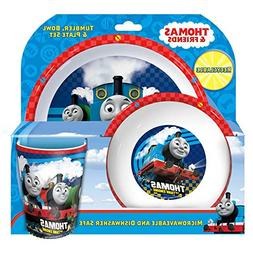 Thomas The Tank Engine Childrens/Boys Official 3 Piece Dinne