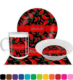 Chili Peppers Dinner Set - 4 Pc