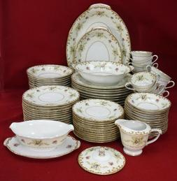 SANGO china REGAL Gold pattern 87 piece SET SERVICE for 12 i