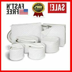 China Storage Set of 6 Quilted Cases Dinnerware Crimson Keep
