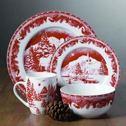 Christmas Dinnerware Set China Dishes Bowls Mugs Table Kitch