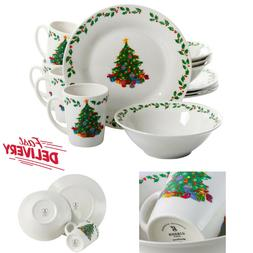 Christmas Dinnerware Set Service for 8 with Holiday Decorate