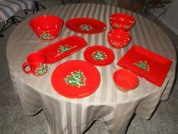 christmas holiday dishware set