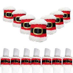 Trinkets Dream Set of 7 Christmas Santa Belts Napkin Rings H