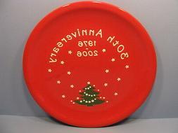 "Christmas Tree Dinner Plate 10"" 30th Anniversary Waechtersba"