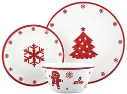 Christmas Tree Dinnerware Set Dishes Bowl Kitchen China Tabl