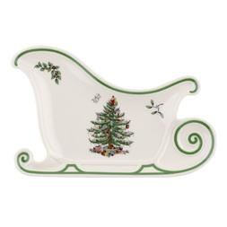 Spode Christmas Tree Embossed Sleigh Platter