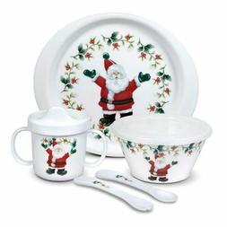 Pfaltzgraff Christmas  Winterberry 5 Piece Jolly Santa Child