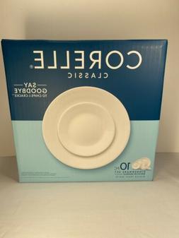 Corelle Classic Winter Frost White 10 Piece Dinnerware Set