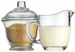 Palais Glassware Clear Sugar and Creamer Set