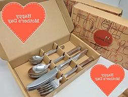 Clearance Sales!! Stainless Steel 16-Piece Flatware Gift Set
