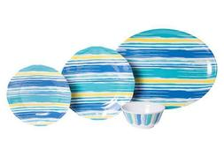 Coastal Lines 13 piece Dinnerware Box Set w/Platter