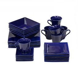 Cobalt Nova 30 Pcs Dinnerware  Collection Set Contemporary S