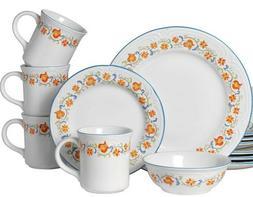 Pfaltzgraff Colebrook 16 Piece Stoneware Dinnerware Set Serv
