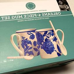 Martha Stewart Collection Set of 2 Orleans Cobalt Mugs with