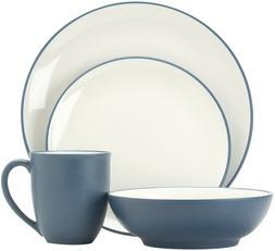 Noritake Colorwave Blue 16-Piece Dinnerware Set, Service for