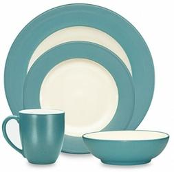Noritake Colorwave Rim 4-Piece Place Setting in Turquoise