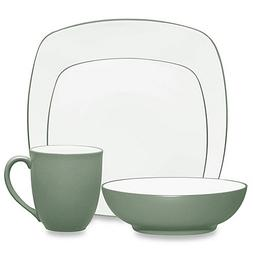 Colorwave Square 4-Piece Place Setting in Green