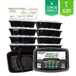 2 Compartment Meal Prep Divided Containers  Certified BPA Fr