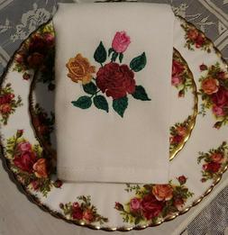 Compliments -Old Country Roses- Royal Albert China-Emb. Napk