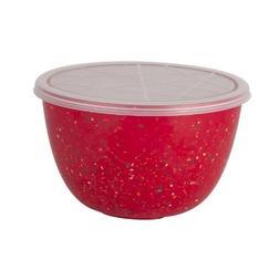 Zak Designs Confetti quart Plastic Mixing Bowl