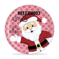 Cookies for Santa Personalized Plate - Girls Santa Christmas