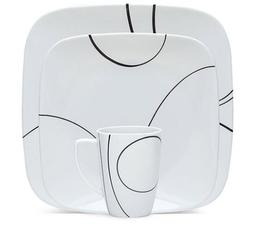 Cookware - Corelle Square Simple Lines 16-Piece Dinnerware S