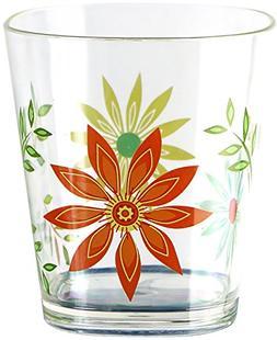 Corelle Coordinates Happy Days Acrylic Square Rock Glasses,