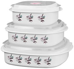 Corelle Coordinates 3 Piece Microwave Cookware and Storage S