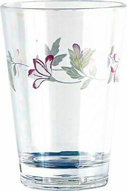 Corelle Coordinates Pink Trio 8-Ounce Acrylic Glass, Set of