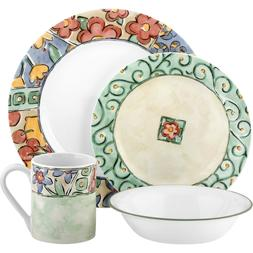 Corelle Impressions 16-Piece Dinnerware Set, Watercolors