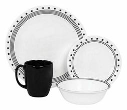 Corelle Livingware Dinnerware Set 16-Piece City Block Dish S