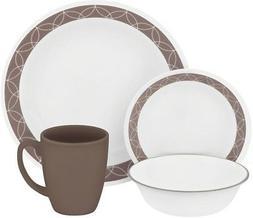 Corelle Livingware Sand Sketch 32-Piece Dinnerware Set