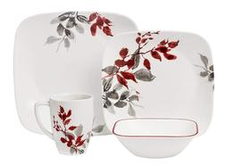 CORELLE Square Kyoto Leaves 16-pc Set