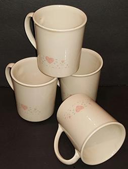 Corning Corelle Forever Yours Mugs - Set of 4