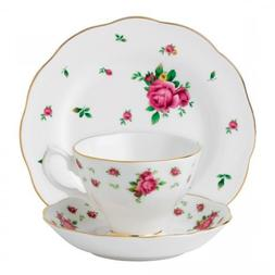 Royal Albert 3-Piece New Country Roses Teacup, Saucer and Pl