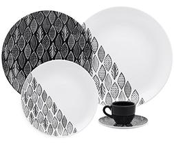 Oxford Coup Black Forest Collection Porcelain Dinnerware Set
