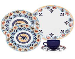 Oxford Coup Shanti 20 Piece Porcelain Dinnerware Set, White