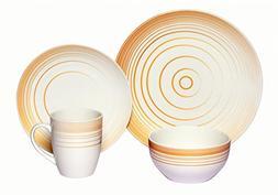 Melange Coupe 32-Piece Porcelain Dinnerware Set    Service f